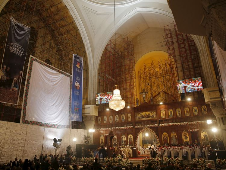 Egypt's Coptic Christians will attend midnight mass for Christmas