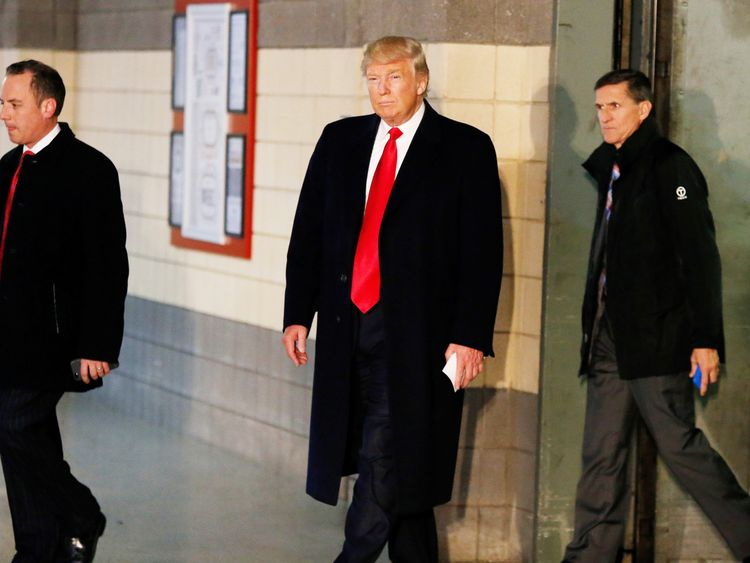 Donald Trump and Michael Flynn in December 2016