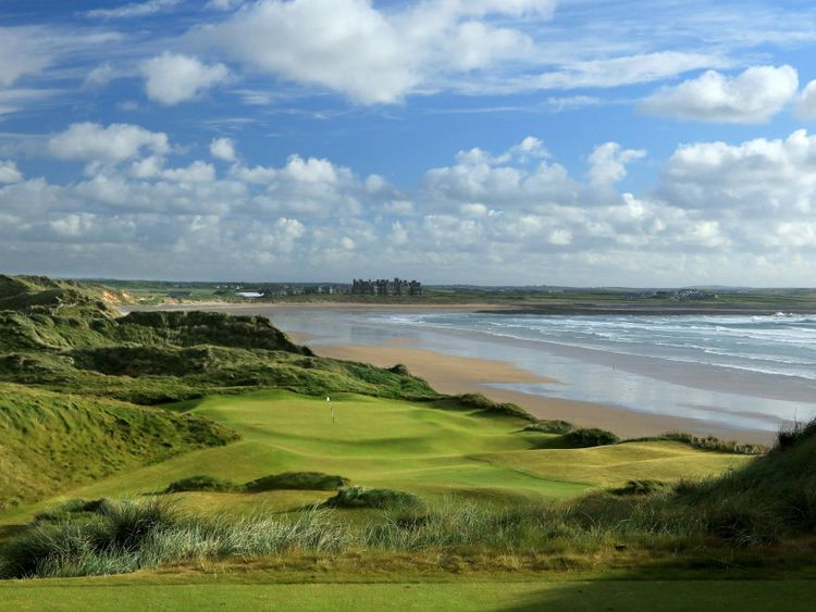A picturesque view over Mr Trump's course in County Clare