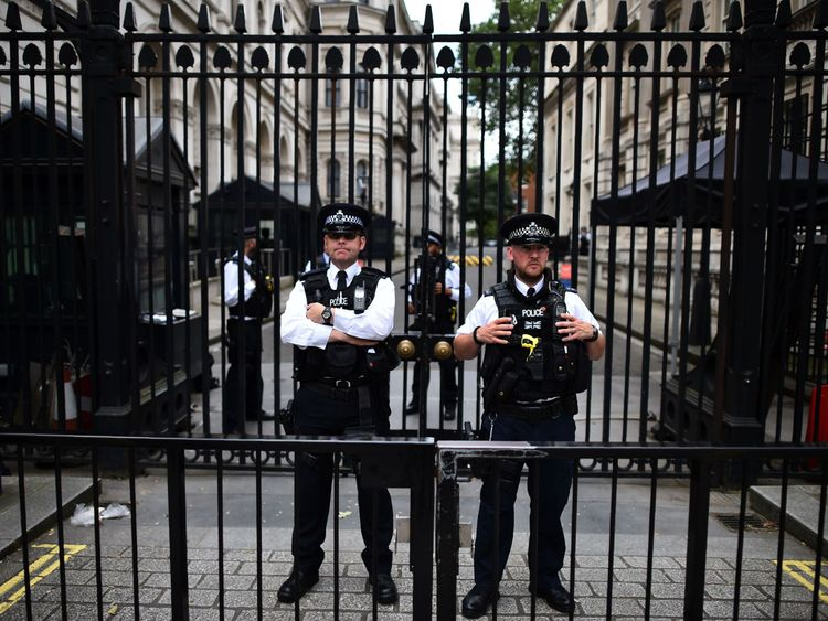 Downing Street has tight security