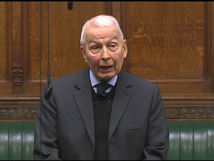 Frank Field described how one of his constituents was considering suicide