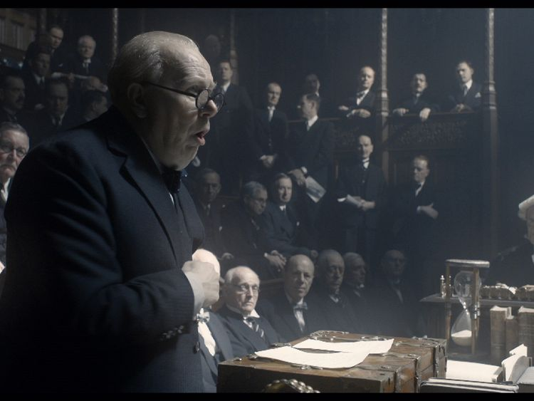 Oldman in Oscars running with star turn as Churchill