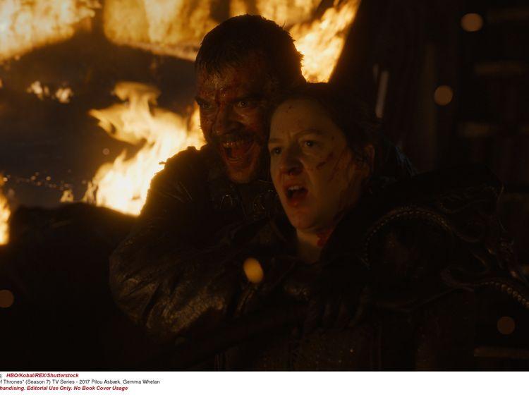 "Set9036271Image9036271qPhotographerHBO/Kobal/REX/Shutterstock""Game Of Thrones"" (Season 7) TV Series - 2017Pilou Asbæk, Gemma Whelan2017"