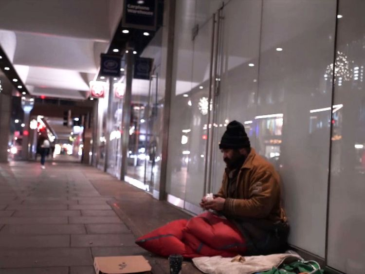 The number of rough sleepers is rising
