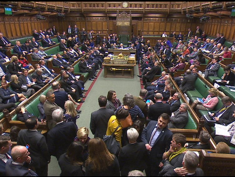 PM staring at Brexit Commons defeat