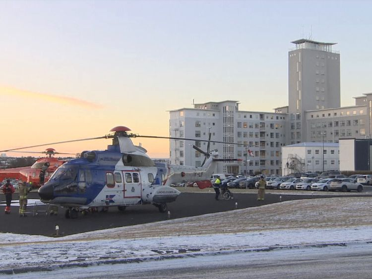 Three helicopters took 12 critically injured to hospital