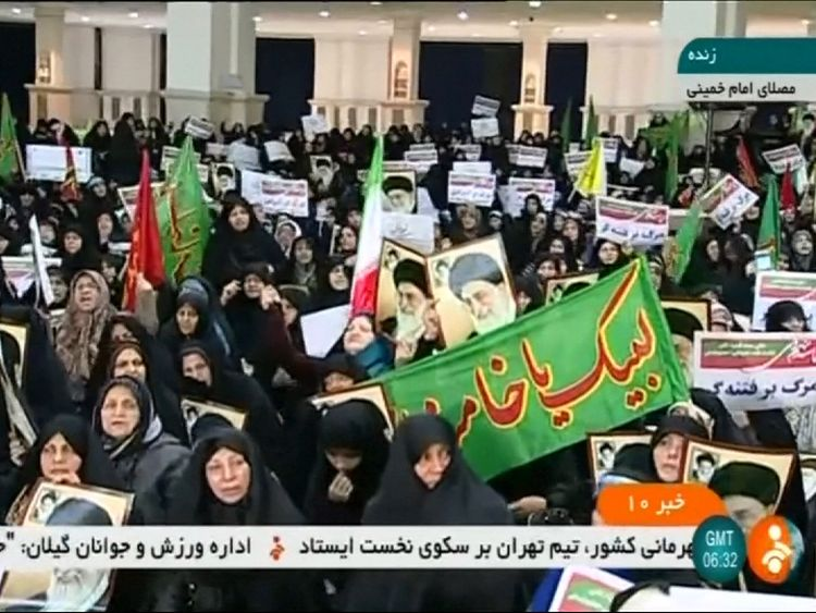 Iran hard-liners rally as new protests over economic system…
