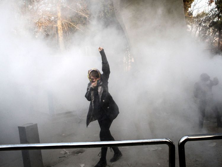Pro-government rallies held in Iran to protest violence