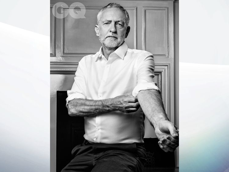 Jeremy Corbyn, from the January issue of British GQ, out next week. Pic: Marco Grob/Conde Nast