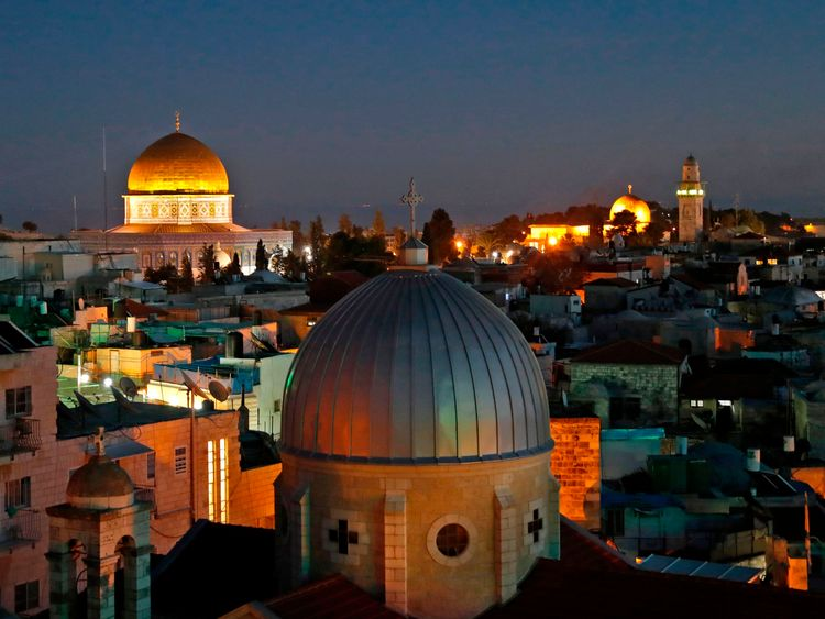 A general view of the skyline of the old city of Jerusalem