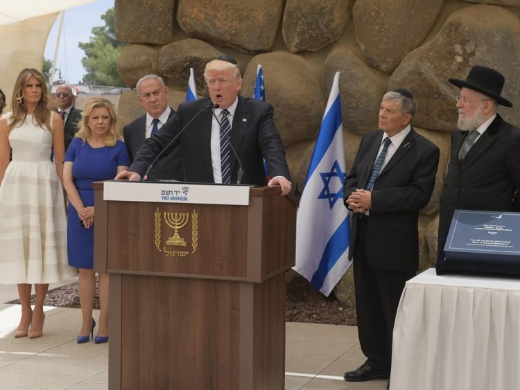 Donald Trump visited Jerusalem in May 2017