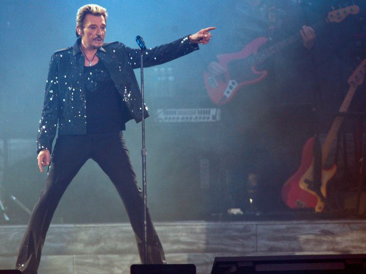 Hallyday was France's answer to Elvis Presley
