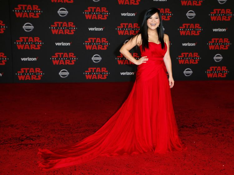Newcomer Kelly Marie Tran was overcome with emotion but was supported by co-star Daisy Ridley