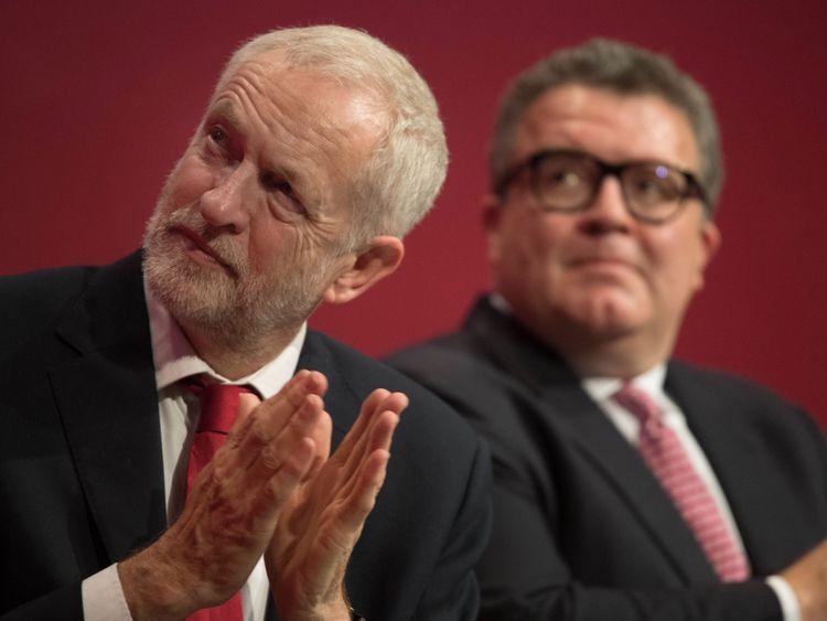 Labour's Jeremy Corbyn and Tom Watson