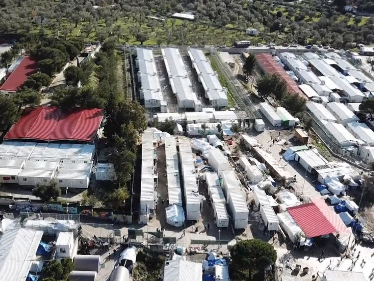 The sprawling camp is home to more than 6,000 people