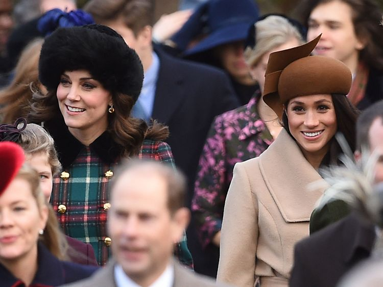 The Duchess of Cambridge with Meghan Markle
