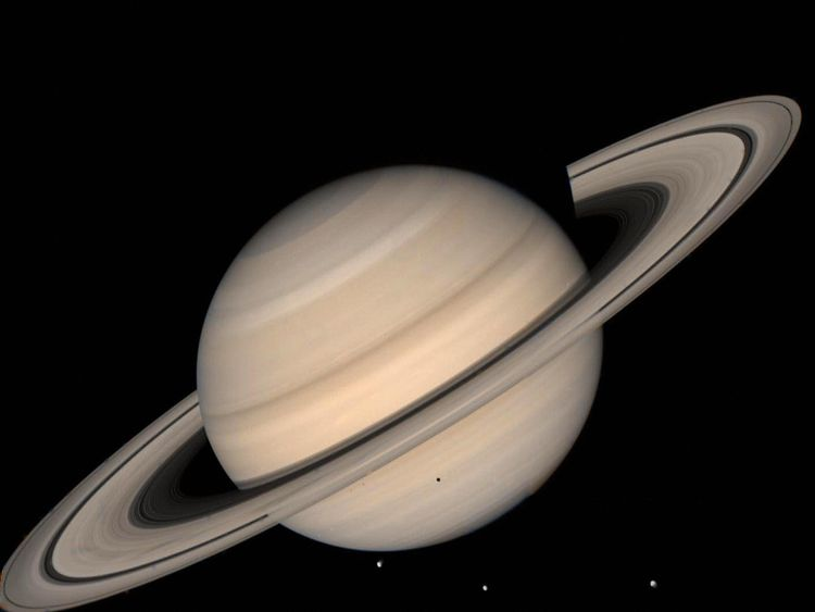 A Voyager 2 image of Saturn