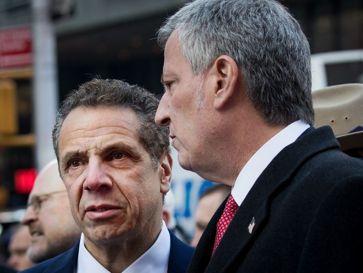 Andrew Cuomo, New York's Mayor, speaks after the attempted terror attack