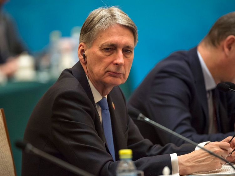 Philip Hammond hopes to build new trade relations during his official visit to China