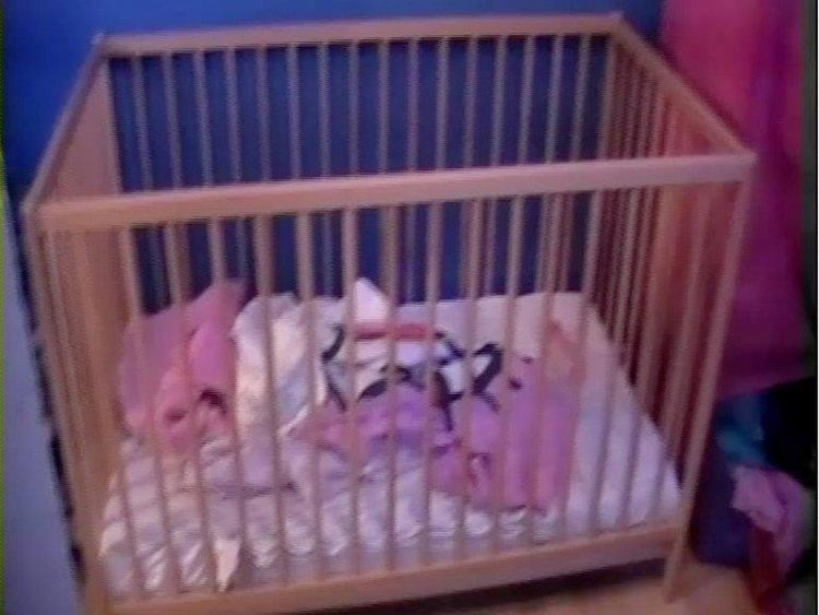 The cot where Poppi Worthington slept on December 11 and 12, 2012. Pic: Cumbria County Council
