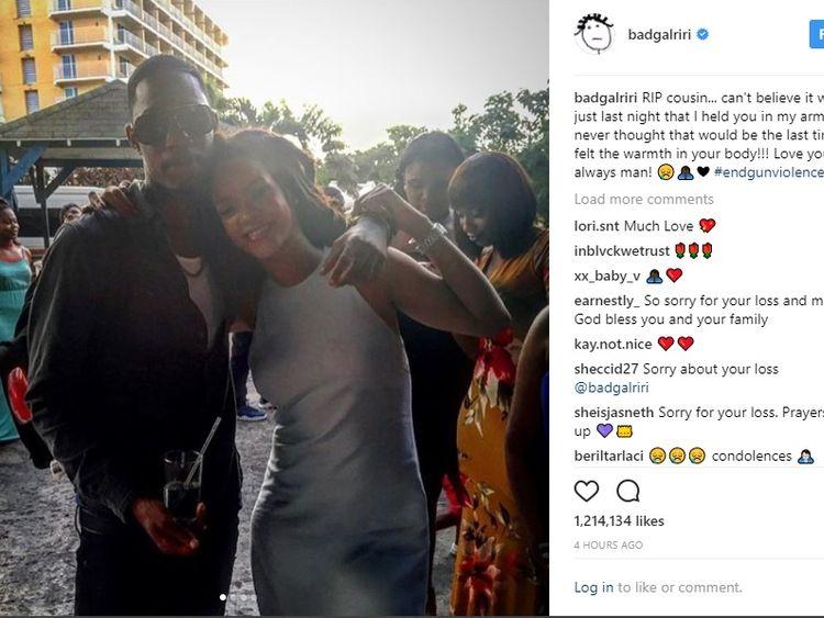 Rihanna's cousin shot dead in Barbados
