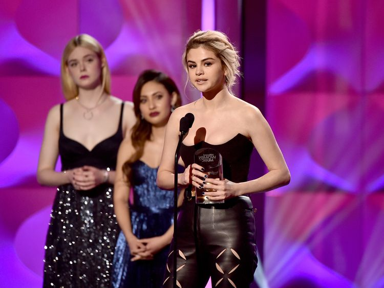 onstage during Billboard Women In Music 2017 at The Ray Dolby Ballroom at Hollywood & Highland Center on November 30, 2017 in Hollywood, California.