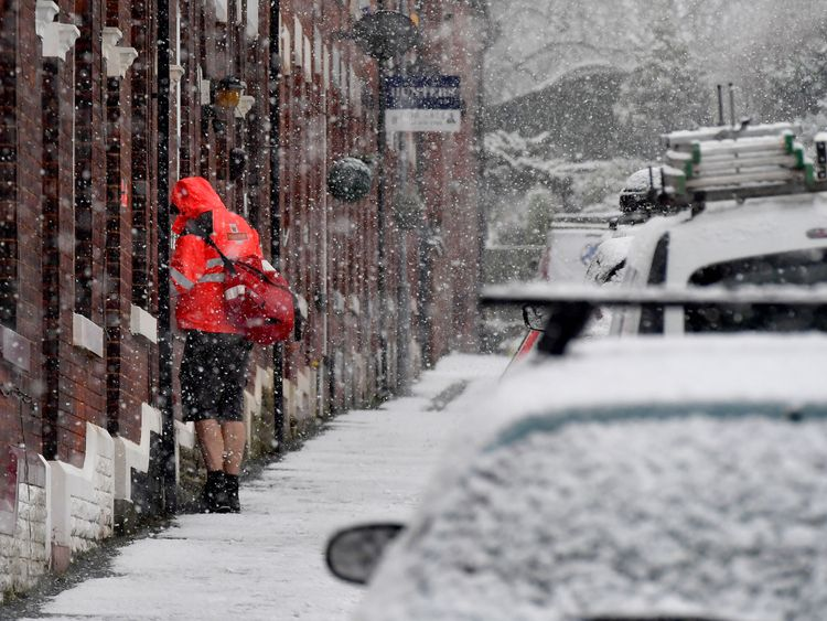 United Kingdom set for 'significant' snow as Storm Caroline hits