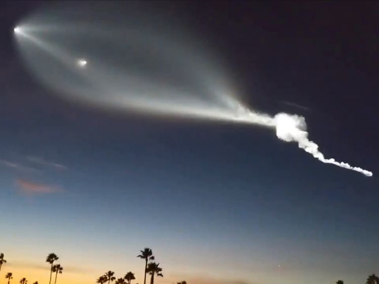 SpaceX rocket launch from Vandenberg Air Force Base a success