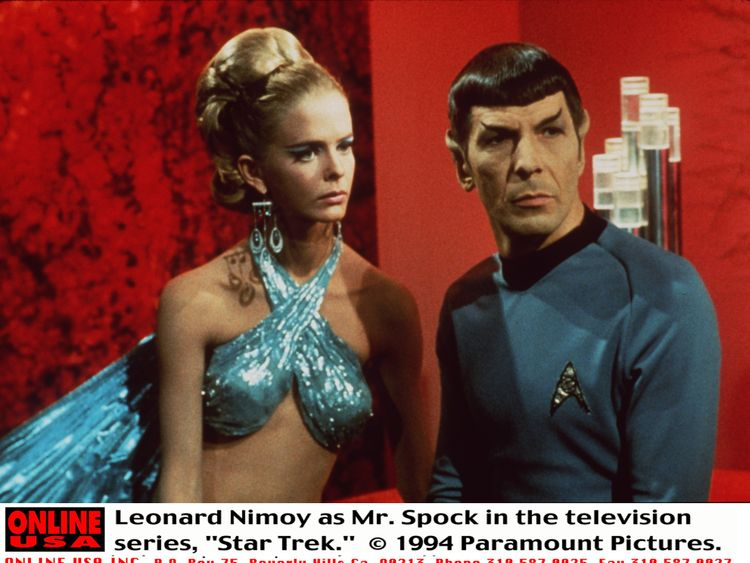 Image    The late Leonard Nimoy as the show's most iconic character Dr Spock