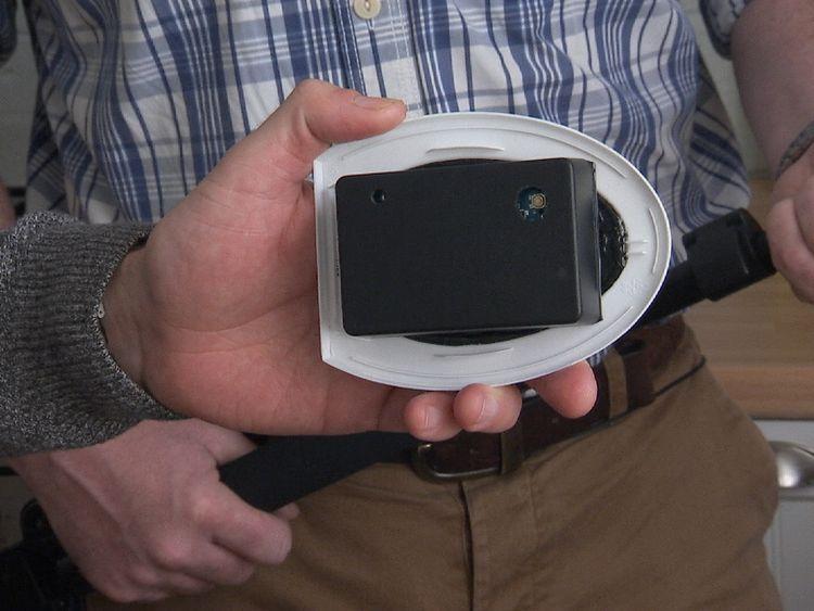 A surveillance device hidden inside an air freshener