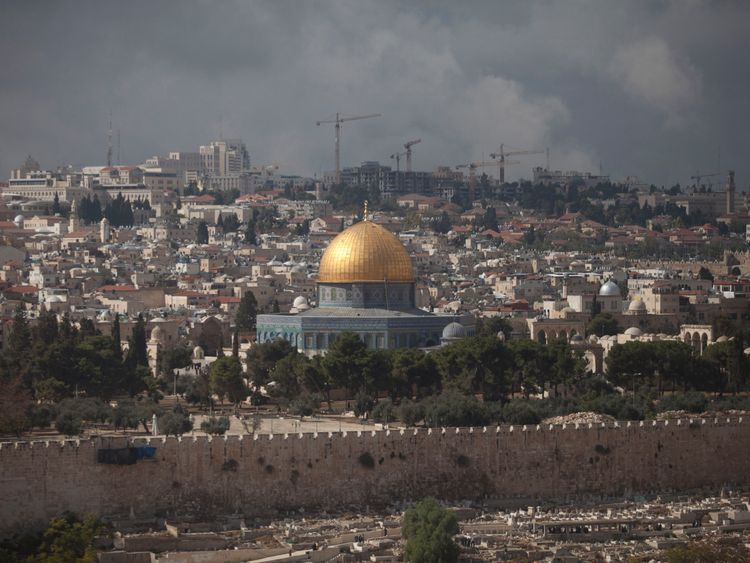 Israeli's know this area of Jerusalem as Temple Mount while Palestinians know it as Harem esh Sharif.