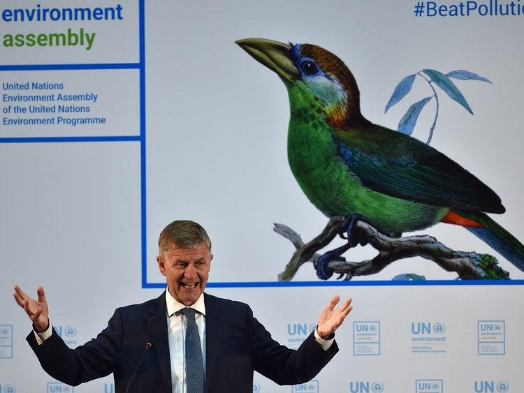 Erik Solheim, UN Environment head, told the 7,000-strong delegation in Nairobi he is optimistic plastic usage will see an about turn within 20 years