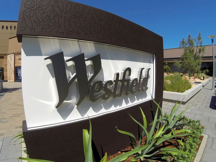 FILE PHOTO: The sign of Westfield shopping center is pictured in San Diego, California September 10, 2014.