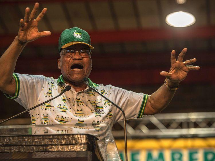Outgoing President Jacob Zuma addresses ANC delegates