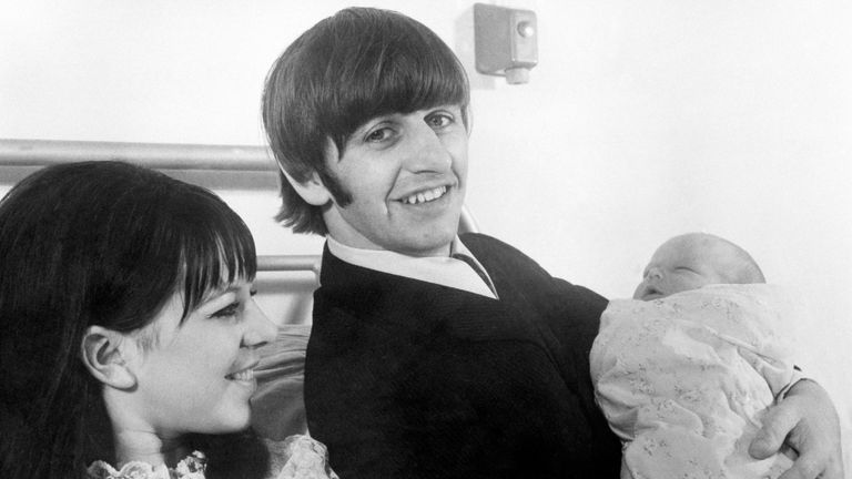 Ringo Starr and baby