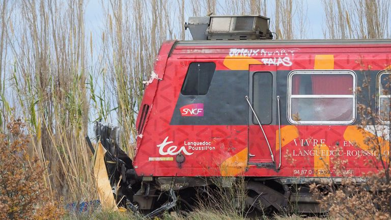 The train involved in the fatal bus crash