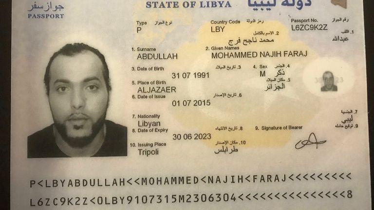 Mohammed Abdallah's Libyan passport