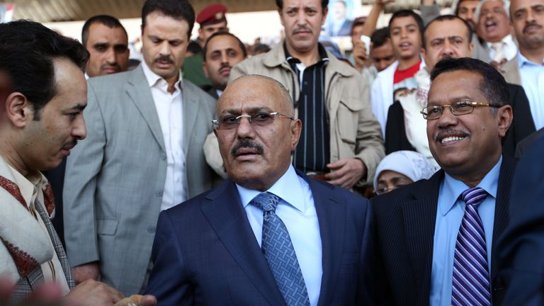 Ali Abdullah Saleh ruled from 1990 to 2012