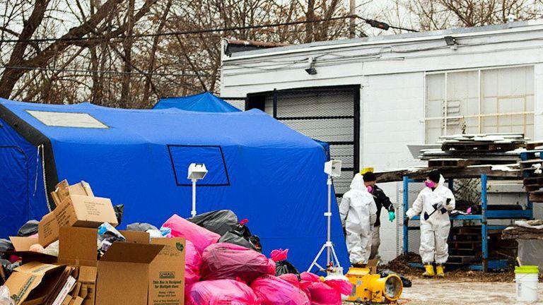The FBI raid on Arthur Rathburn's warehouse in Detroit, Michigan