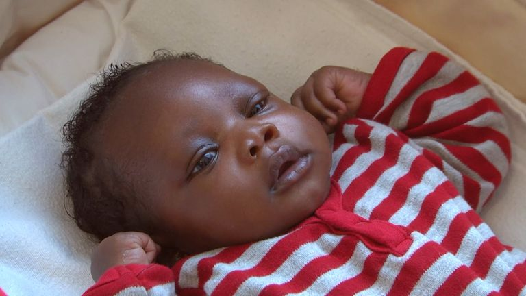 Baby Harry was found in a park area in Plaistow, in September