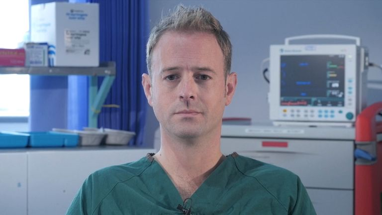 Surgeon Barnes Morgan, who treated victims of the Manchester Arena bombing