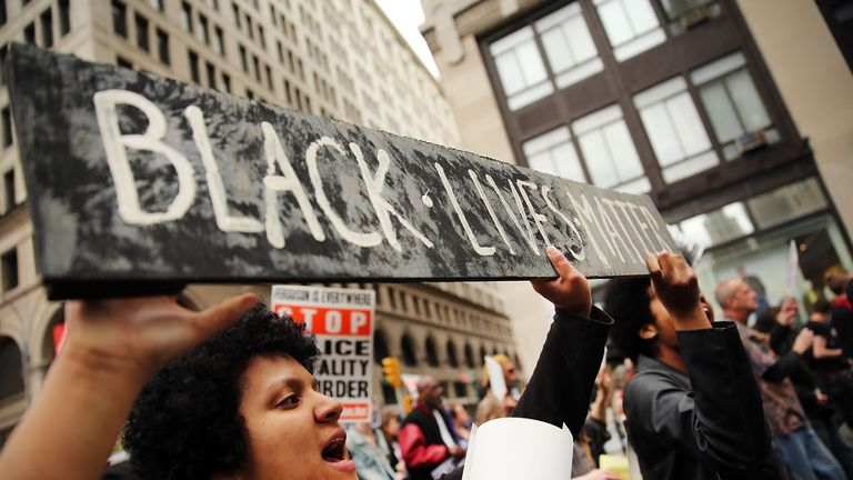 A Black Lives Matter protest in New York in 2015
