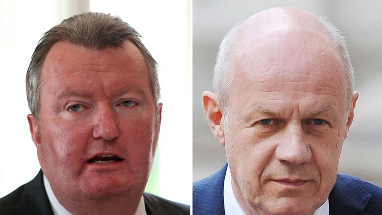 Former Metropolitan Police assistant commissioner Bob Quick and First Secretary of State Damian Green