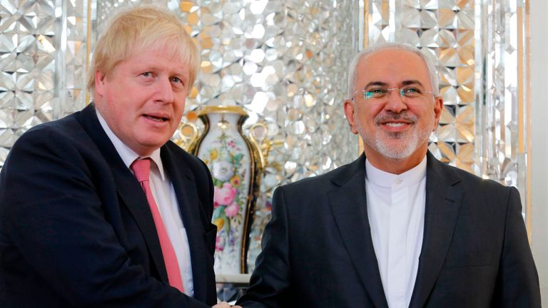 Boris Johnson met with Iran's Foreign Minister Mohammed Javad Zarif in Tehran in December last year