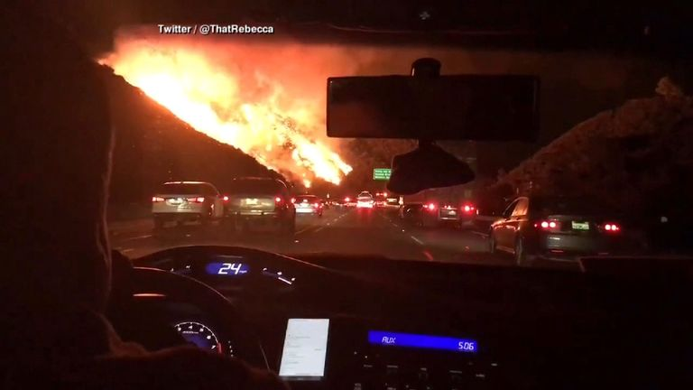 The fires have spread to LA