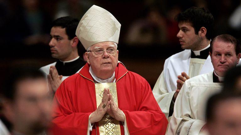 Cardinal Bernard Law in St Peter's in 2005