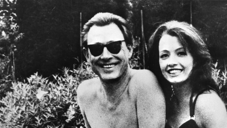 Showgirl Christine Keeler, (right), with osteopath Stephen Ward