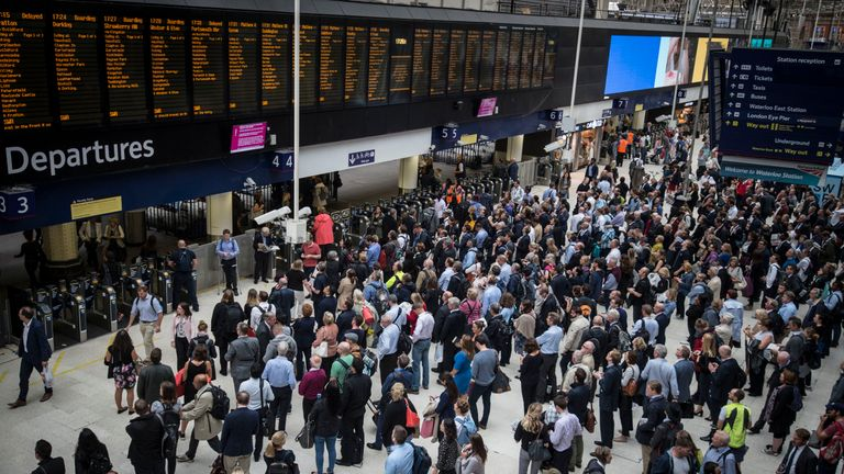 Passenger numbers increased at London Waterloo