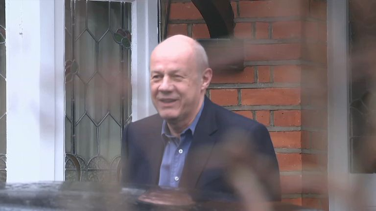 Damian Green as he left his house in Acton, west London on Thursday morning