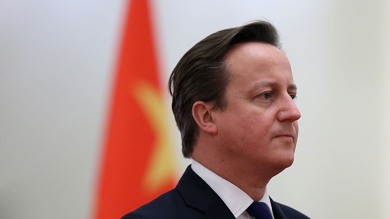 David Cameron is pictured while on an official visit to China in 2013